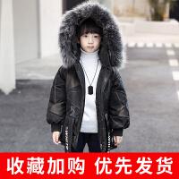 男童棉衣2018新款韩版儿童冬装中长款棉袄中大童宝宝胖童迷彩 图片色