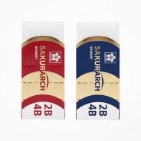 日本进口Sakura樱花4B橡皮擦美术生专用擦得干净考试专业绘图2B橡皮素描高光专用不留痕无碎屑小学生文具用品