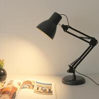 【限时7折】美式长臂LED台灯工作护眼绘图插电式折叠伸缩主播美颜直播补光灯