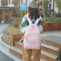 书包女韩版原宿高中学生学院风双肩包休闲百搭旅行背包