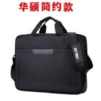联想华硕笔记本电脑包1415.6英寸单肩斜挎手提包男女式商务背包