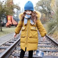 女童棉衣2018新款冬装韩版童装小女孩棉袄加厚中长款儿童洋气