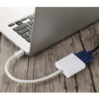 苹果电脑连视频投影仪minidp转vga转换器雷电接口头VGA高清连接线