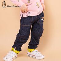 【2件5折:169.5元】暇步士儿童春季新款舒适时尚潮流牛仔单层长裤中大童简洁长裤