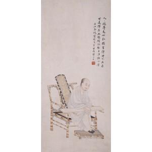 原中国画学研究会会长  金城《罗汉》