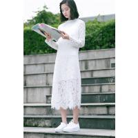 蕾丝连衣裙显瘦气质打底裙内搭中长款2020年春装新款韩版仙女裙子