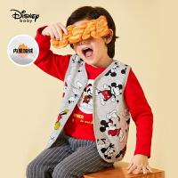 【1.15�品秒�r:39.9元】迪士尼男童加�q�R甲秋冬新款保暖�饶��R�A卡通米奇�和�背心