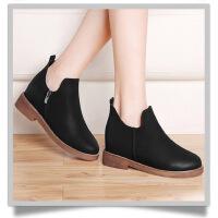 古奇天伦 短靴2017秋冬季新款英伦风马丁靴女鞋中跟时尚靴子 GQ8530