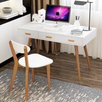 ?实木书桌家用简约台式电脑桌北欧书桌写字台办公桌卧室儿童学习桌