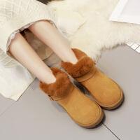 反季雪地靴女短款2018新款短靴秋学生大棉鞋毛毛靴棉靴冬天女鞋子