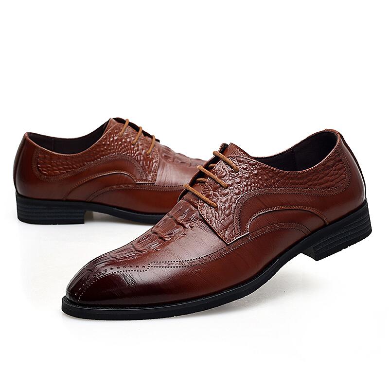 皮鞋男韩版男鞋子潮男士英伦休闲正装商务鞋青年结婚鞋黑色工作鞋