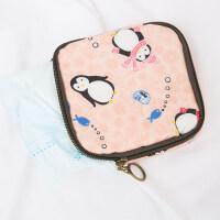 卡通零钱包化妆品韩国小号便携大容量简约随身姨妈卫生巾棉收纳包