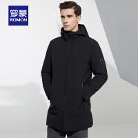 【3折到手价:328】罗蒙羽绒服男士中长款冬季修身外套中青年时尚休闲保暖羽绒服