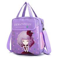 小学生补习包女童单肩斜挎包儿童补习袋手提袋防水书包