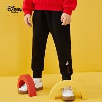 迪士尼女童运动长裤2020春秋新款宝宝儿童洋气米妮印花休闲裤