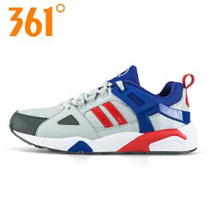 361度男鞋时尚复古拼色网面休闲学生潮流运动休闲跑步鞋