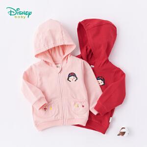 迪士尼Disney童装女童外套秋装新品卡通白雪公主连帽卫衣鱼鳞布休闲宝宝衣服183S1048