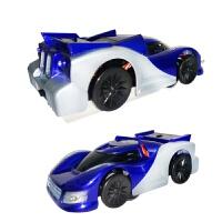 维莱 儿童电动遥控车P801充电爬墙车90度直角攀爬特技车吸力遥控汽车 蓝色