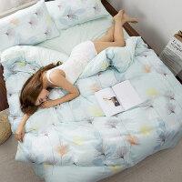 0717111205366婴儿级双层纱布四件套纯棉床笠被套床上用品吸湿透气 2.0m 床笠款(被套2.2X2.4m)