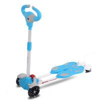 儿童蛙式剪刀滑板车2-6-10岁宝宝小孩3轮四轮双脚闪光滑滑车