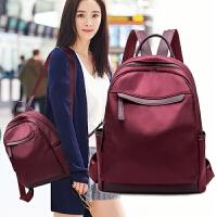 双肩包女包包韩版潮流百搭2018新款牛津布休闲包帆布书包旅行背包