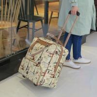 韩版拉杆包小旅行包女大容量手提包拉包出差登机包轻便行李包短途