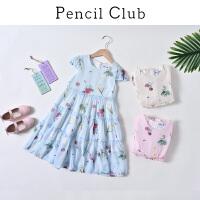 【2件3折:79.8】铅笔俱乐部童装2020夏季女童连衣裙中大童连衣裙公主裙洋气连衣裙