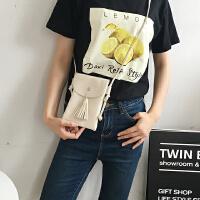 韩国夏季韩版单肩斜跨包流苏包简约迷你女包小包包软妹手机包