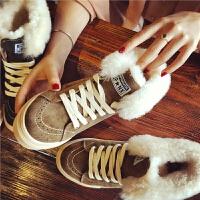 欧洲站冬季新款真皮羊毛雪地靴加绒复古短靴厚底棉鞋学生平底女鞋