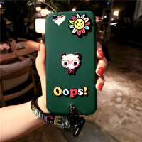 情侣小熊iPhone6s手机壳6p硅胶挂绳套8苹果7plus软潮女款卡通X10