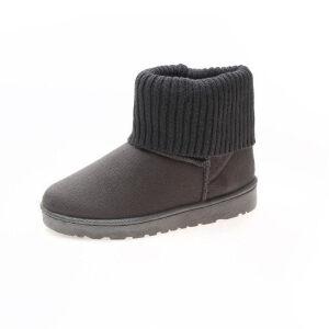 WARORWAR新品YM9-8-23冬季韩版磨砂反绒平底舒适女士雪地靴
