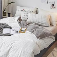 北欧四件套简约加厚宝宝绒被套床单床上用品三件套