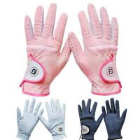 高尔夫手套女款 双手高尔夫球手套 超纤细布透气耐磨可水洗