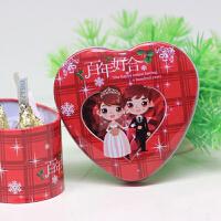创意婚礼喜糖袋马口铁喜糖盒子 婚庆用品 小号心形马口铁糖盒