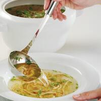 WMF福腾宝不锈钢汤勺厨房家用勺子长柄大号盛汤火锅勺粥稀饭勺