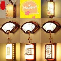 中式客厅壁灯仿古实木艺床头卧室墙壁灯中式灯具中国风楼梯过道灯4hz