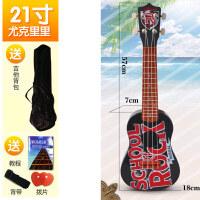 尤克里里初学者儿童吉他玩具可弹奏仿真音乐男孩女孩宝宝21寸乐器a288