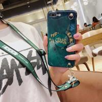 斜挎苹果xsmax手机壳XR支架iphone8plus背包壳7p硅胶挂绳6s祖母绿