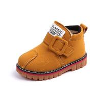 冬季儿童雪地靴男宝宝马丁靴女孩棉鞋中小童加绒短靴婴儿保暖棉靴
