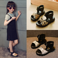 小女孩童鞋夏季儿童新款女童软底凉鞋中大童真皮公主鞋潮
