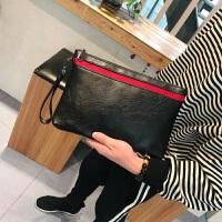 韩版男士手拿包潮流时尚手包男包个性休闲小包手抓包商务包百搭包 黑色 现货