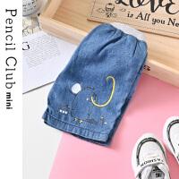 【2件4折:35.6】铅笔俱乐部童装2020夏装新款男童短裤儿童牛仔裤小童宝宝薄款中裤
