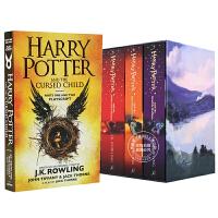 预售 哈利波特全集 英文原版 Harry Potter套装小说1-7加送哈8单本 被诅咒的孩子 JK罗琳原版进口图书