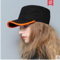 运动棒球帽时尚军帽青年女士潮韩国春夏天平顶帽情侣学生鸭舌帽