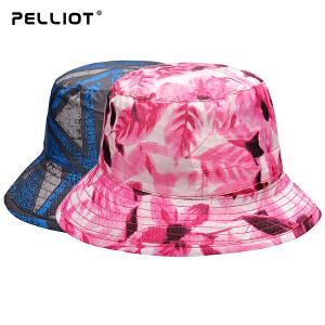 【保暖节-狂欢继续】法国PELLIOT户外防晒帽男女 夏季沙滩帽太阳帽透气遮阳帽户外帽子
