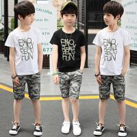 男童夏装新款套装大童短袖儿童装夏季衣服两件套潮