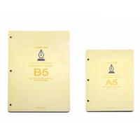 Daolen道林纸张活页金属夹替换芯/3孔米黄纸 有线内页芯A5/B5-100页