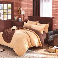 羊羔绒四件套1.8m加厚保暖短毛绒春秋季卷毛绒2米床单被套4件套
