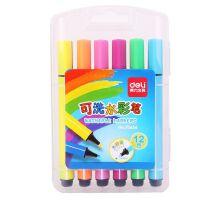 得力(deli)水彩笔48色儿童可水洗彩笔36色无毒画笔幼儿园彩色笔套装 70659可洗水彩笔
