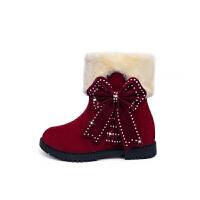 雪地靴2018冬季新款一鞋两穿女靴少女加绒短筒靴大童棉靴学生棉鞋